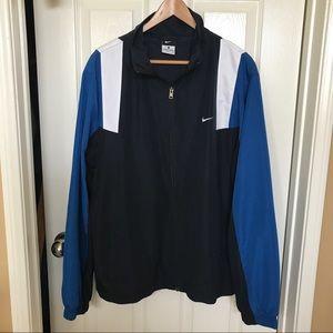 Nike Men's Size L Blue Zip Windbreaker Jacket